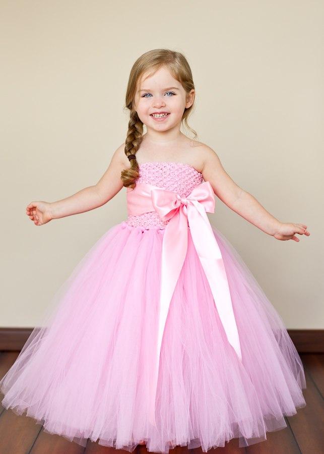 Детское платье с юбкой из фатина