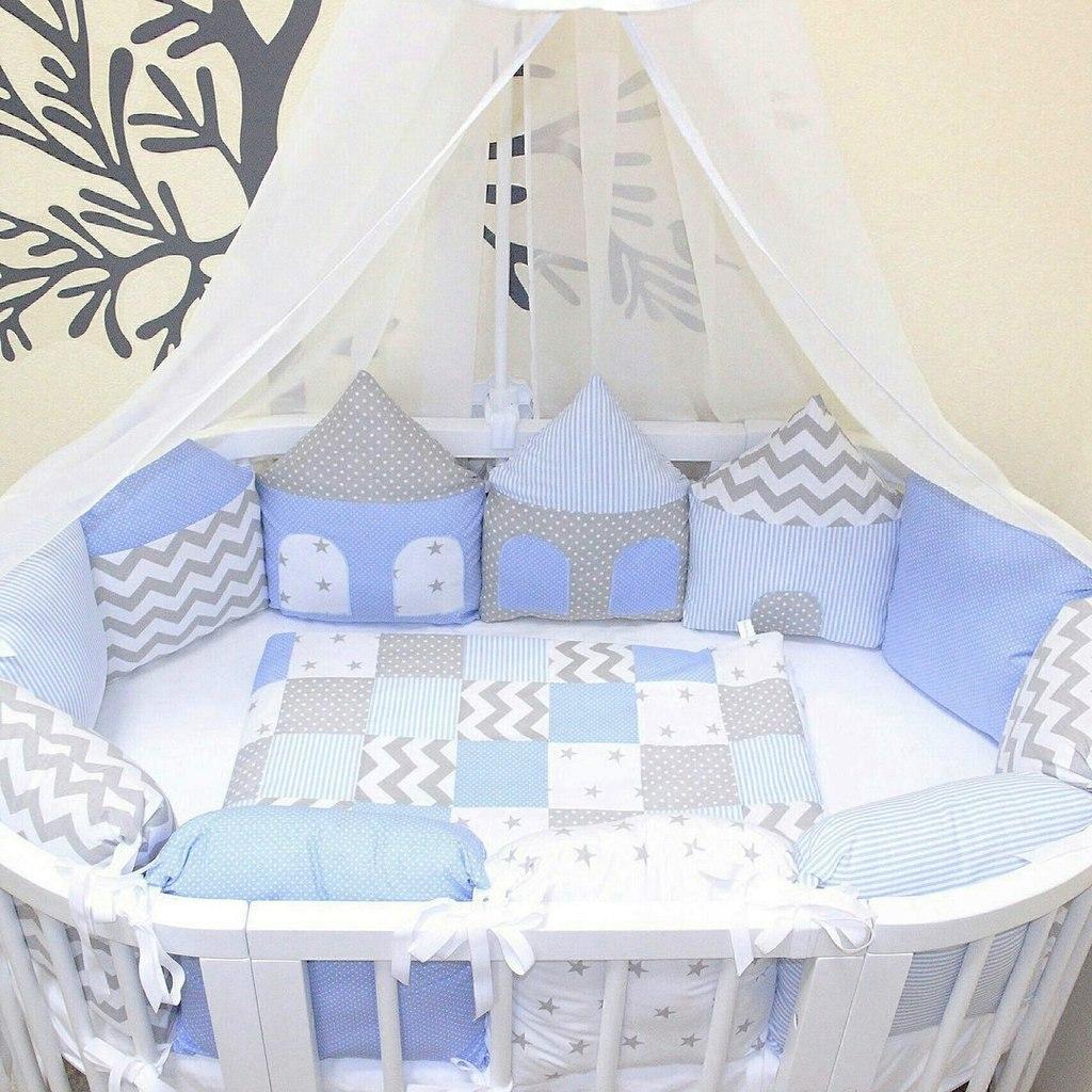 Бортики-домики в кроватку для новорожденных своими руками выкройки фото