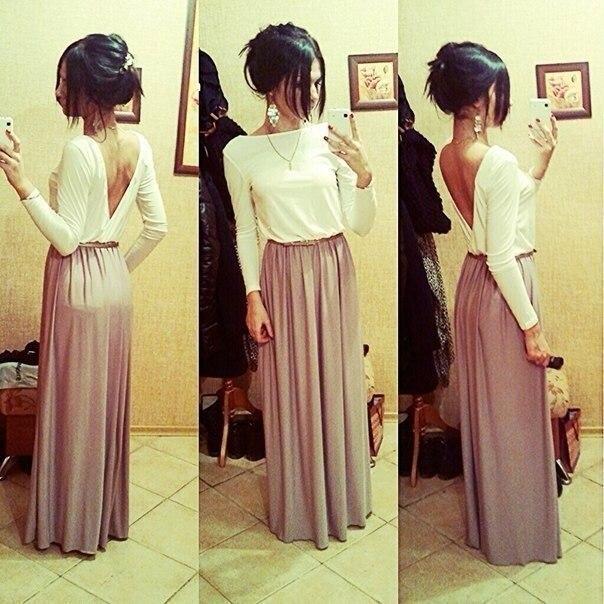 Фото прически с длинным платьем в пол