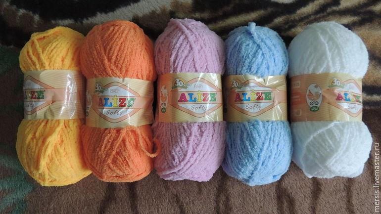 Вязание из ниток alize softy