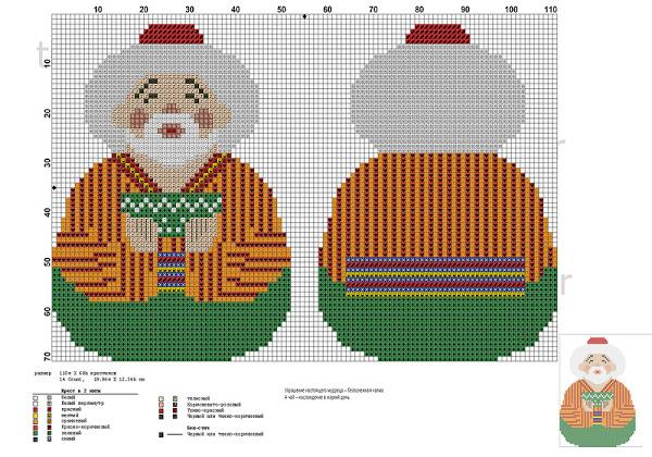 Схемы для вышивки игрушек на елку 118