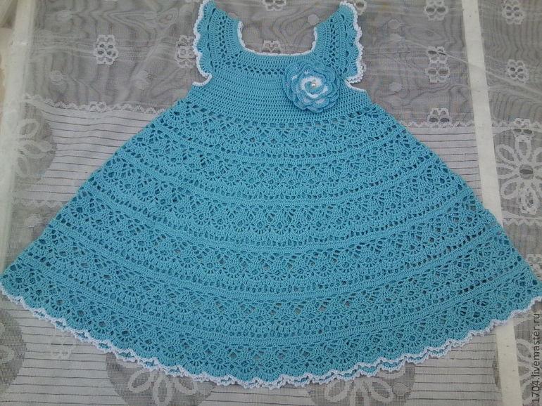 Вязание крючком для девочек 2-3 лет платья и юбки 334