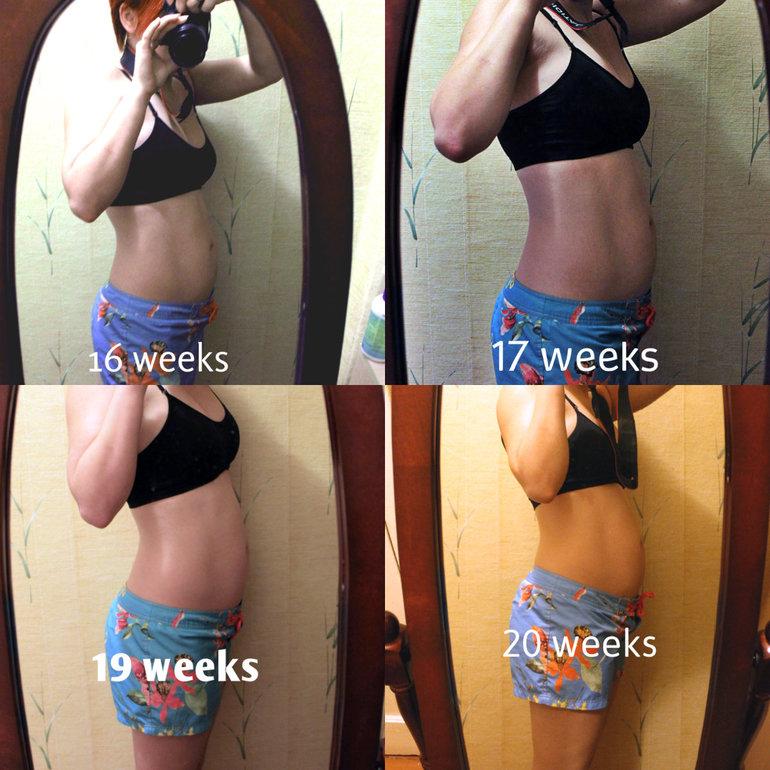 20 недель фото живота