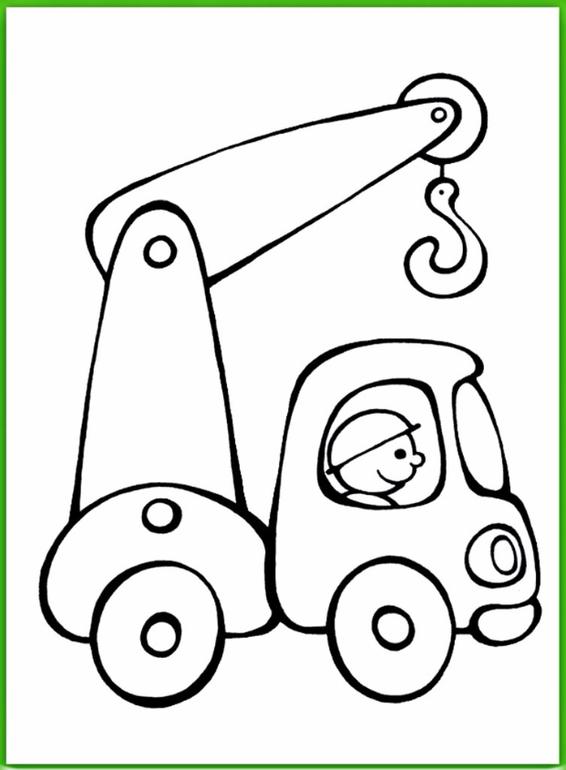Для распечатки раскраска машинки для детей 3-4 лет