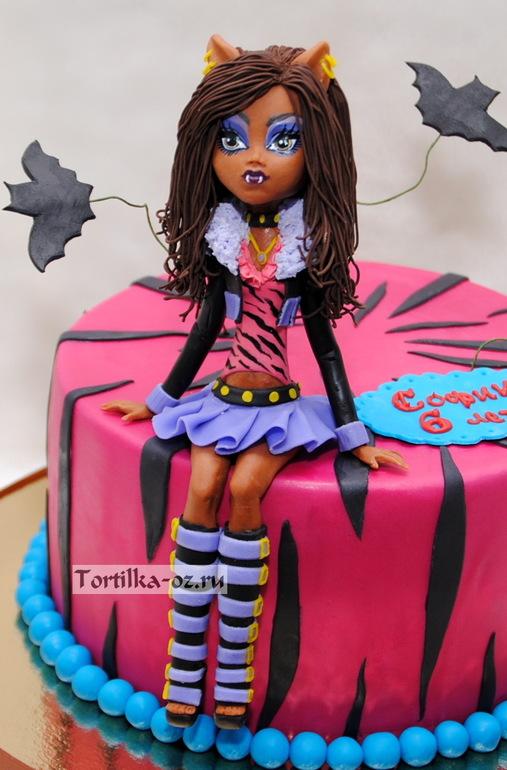Как сделать торт для кукол монстер хай