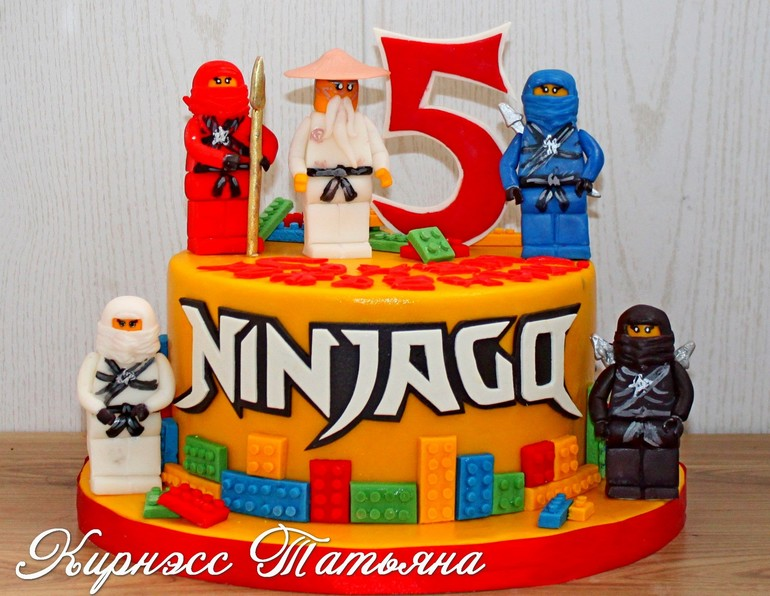 Торт лего ниндзяго