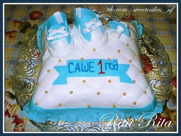 Торт на 1 годик сыну своими руками