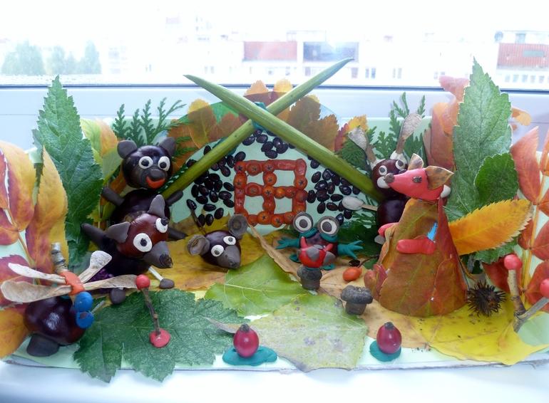 Наша поделка в детский сад.