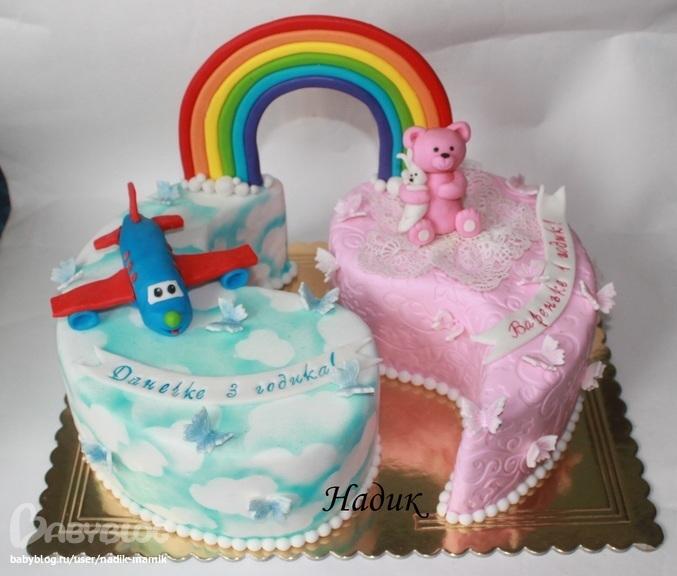 Двойные торты для мальчиков