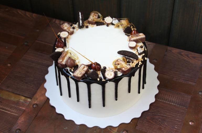 Торт с подтеками своими руками