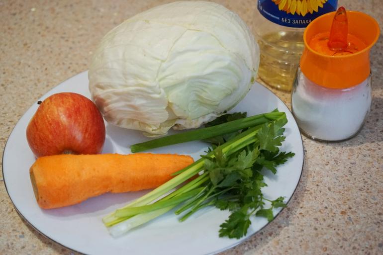 Рецепт капусты свежей и яблока