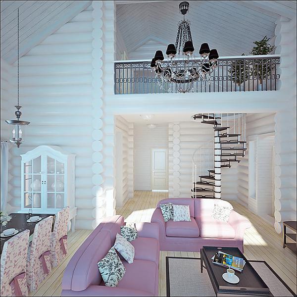 белый деревянный дом фото
