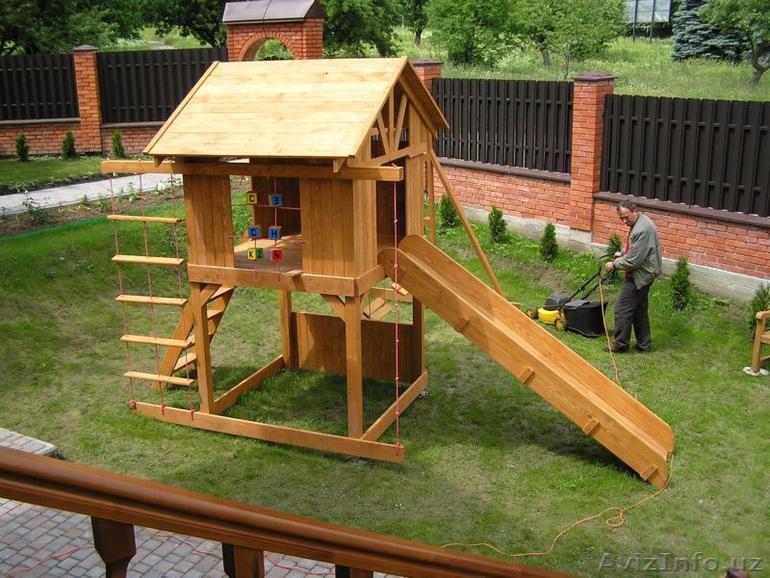 Как самому сделать детские площадки