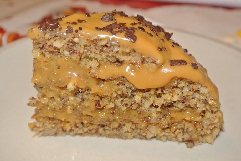 Ореховый торт за 5 минут в микроволновке