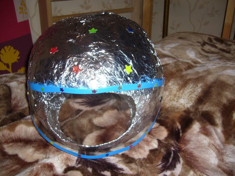 Как сделать шлем для ребенка 458