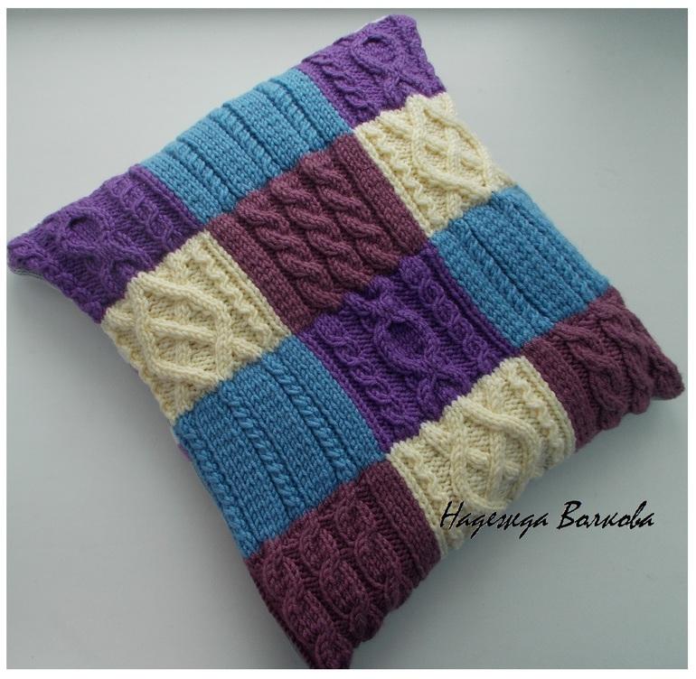 диванная подушка вязанные наволочки на диванные подушки спицами