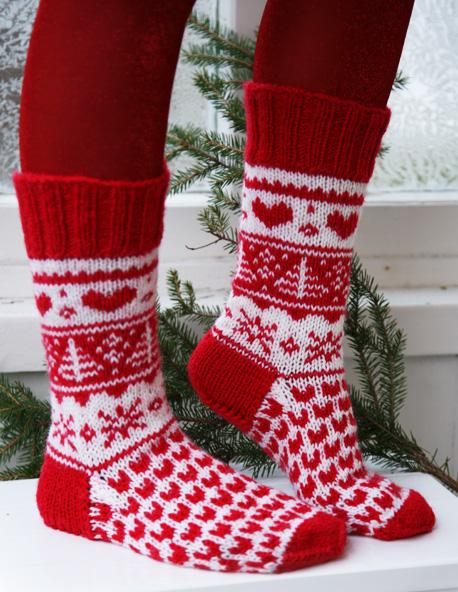 Связать тёплые носки спицами