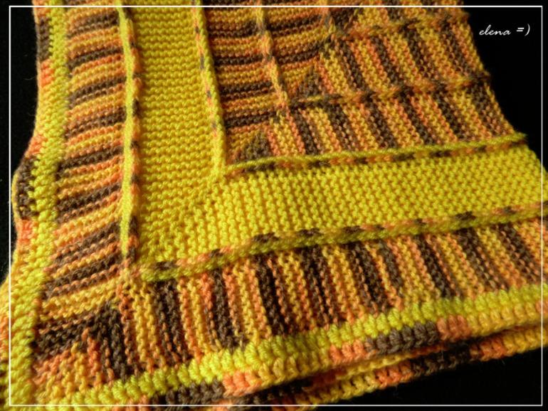 Вязание плед на 10 петлях 92