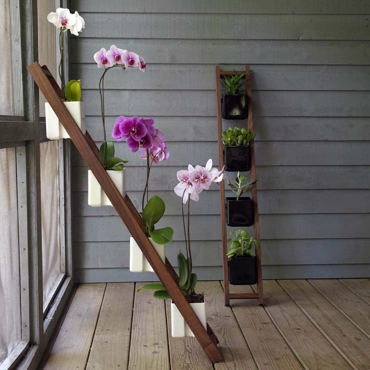Лестница для цветов своими руками