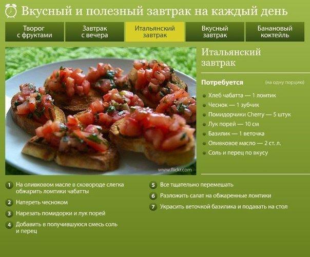 Диета завтрак рецепт