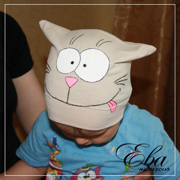 Сшить шапочку для мальчика из трикотажа