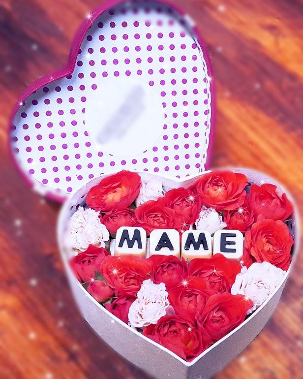 Цветы в коробке с шоколадом своими руками