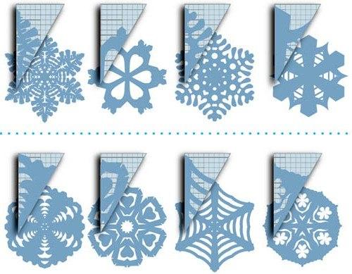 Снежинки на новый год своими руками из бумаги красивые