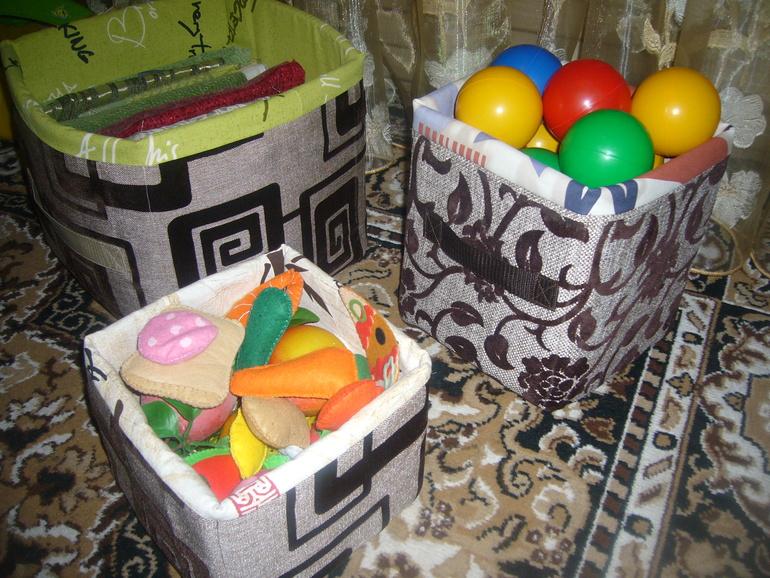 Текстильная коробка для хранения вещей своими руками 636