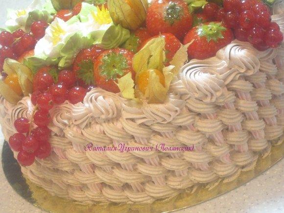 рецепт торта корзина с цветами из крема пошагово