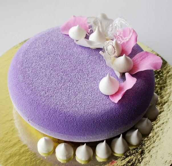 Покрытие велюр на торт