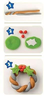 Ёлочные игрушки из пластилина своими руками