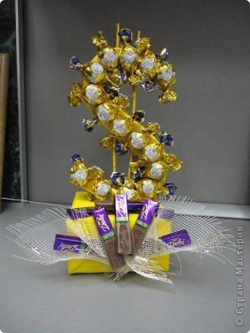 Поделки для папы из конфет