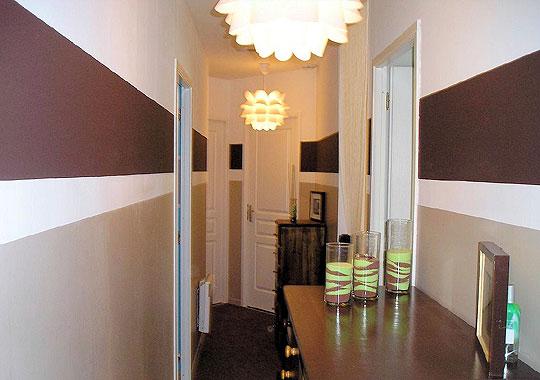 Дизайн покраски стен в коридоре