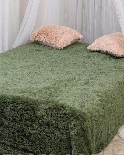 Плед пушистый цвет зеленый