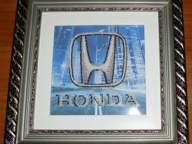 Картина HONDA холст бисер 15х15 (27х27) см