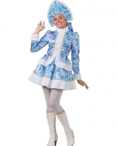 Карнавальный костюм Снегурочка Гжель (д/взр)
