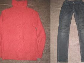 кофточка и джинсы р.140