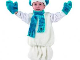 Снеговик новогодний костюм детский праздничный