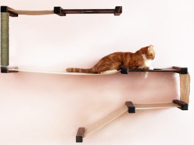 Домик для кошки Форт-Змейка с когтеточкой