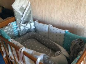 Бортики в кроватку, конверты на выписку, буквы подушки