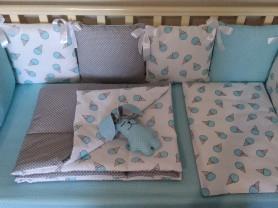 Комплект в кроватку с бортиками 12 предметов
