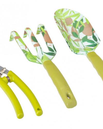 набор стальных садовых инструментов из 3 предметов