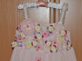 Розовое Платье/сарафан (США) на 4-5 лет