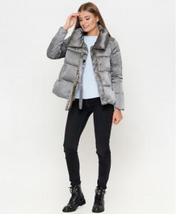 Дизайнерская серая куртка женская модель 811