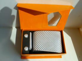 галстук + запонки подарочный набор
