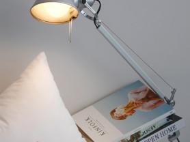 Серый светильник на струбцине NeBy