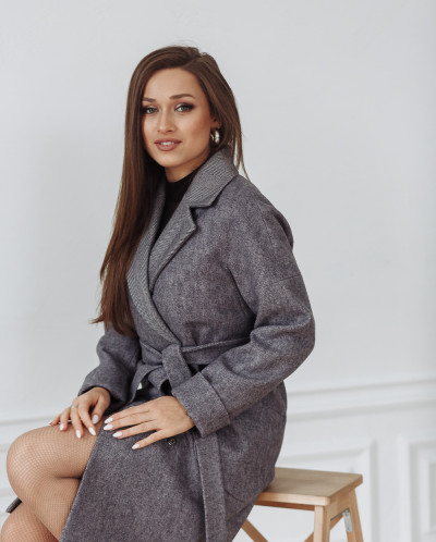 Пальто 22400 (серый)