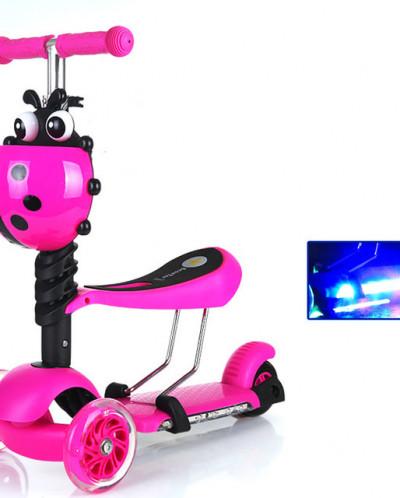 Самокат детский с сиденьем 3 в одном 3х колесный ScooTer