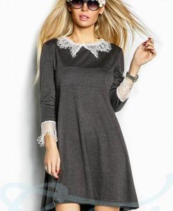 Платье гипюровые вставки