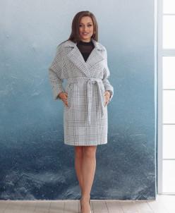Пальто 22480 (серый/клетка)